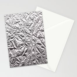 Silver Paper Stationery Cards