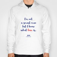 forrest gump Hoodies featuring Forrest Gump knows what love is by POP Collective