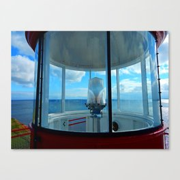 Lighthouse and Sea Beyond, seen from the Balcony Canvas Print
