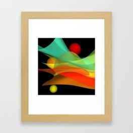 bicubic waves -4- Framed Art Print