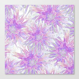 Delicate pink and lilac dahlias Canvas Print