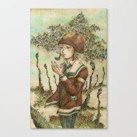 wesley bird Canvas Prints featuring Wesley by kenta.s