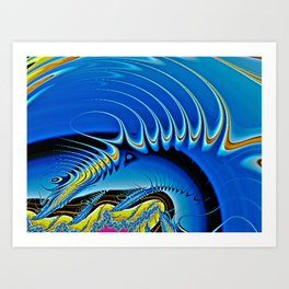 Echo Fractal Art Art Print