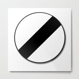 Derestriction Traffic Sign Metal Print