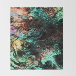 marble inks colorful texture c Throw Blanket