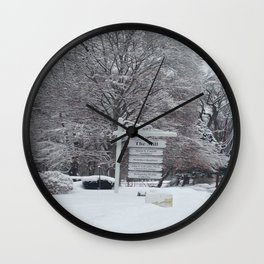 Maplewood - The Mill - Winter Wall Clock