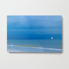 Sailing the Ocean Blue Metal Print