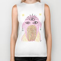 third eye Biker Tanks featuring Third Eye by Nü Köza