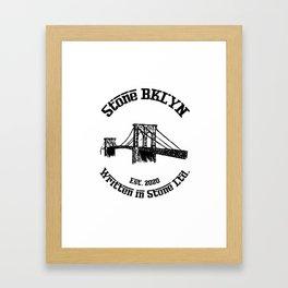 Stone BKLYN Old-School Logo Framed Art Print