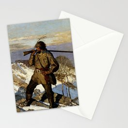 """""""The Frontiersman"""" by NC Wyeth Stationery Cards"""