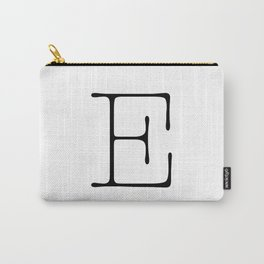 Letter E Typewriting Carry-All Pouch