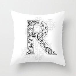 Color Me R Throw Pillow