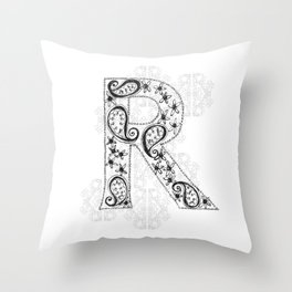 Color Me R Throw Pillow