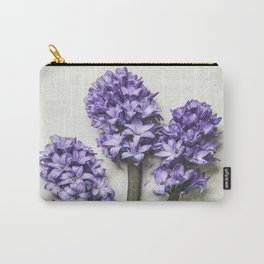 Three Lilac Hyacinth Carry-All Pouch