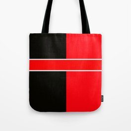 Team Colors 6...red,black,white Tote Bag