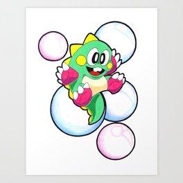 bubble bobble Art Print