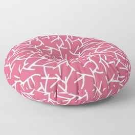 Branches - pink Floor Pillow