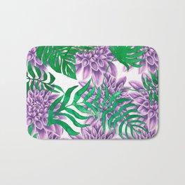fern with purple flowers Bath Mat