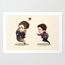 Sammy's Angels (Supernatural) Art Print