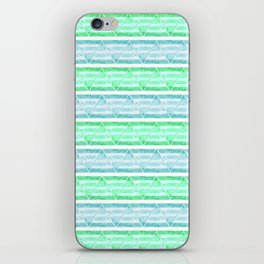blue&green stripes iPhone Skin