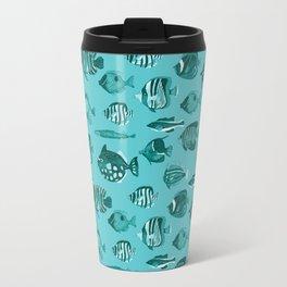 School of Tropical Fish Blue Travel Mug