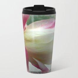 White Rose Metal Travel Mug