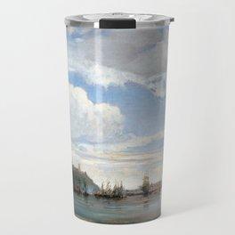 François Antoine Léon Fleury On the Bay of Naples Travel Mug