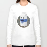 milk Long Sleeve T-shirts featuring Soy Milk by mrbiscuit