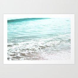 Travel photography wave I aqua ocean wave Art Print