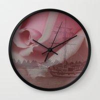 return Wall Clocks featuring Return Safely by Mark Alder