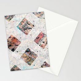 Pastel Check Pattern Stationery Cards