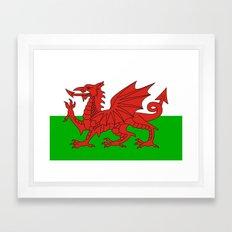 wales country flag united kingdom  Framed Art Print