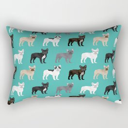 French Bulldog pattern dog breed must have gifts for frenchie owner pillows decor Rectangular Pillow