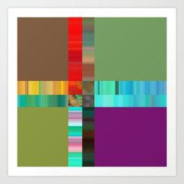 it all breaks down Art Print