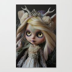 ANCIENT FOREST DEER SPIRIT (Ooak BLYTHE Doll) Canvas Print