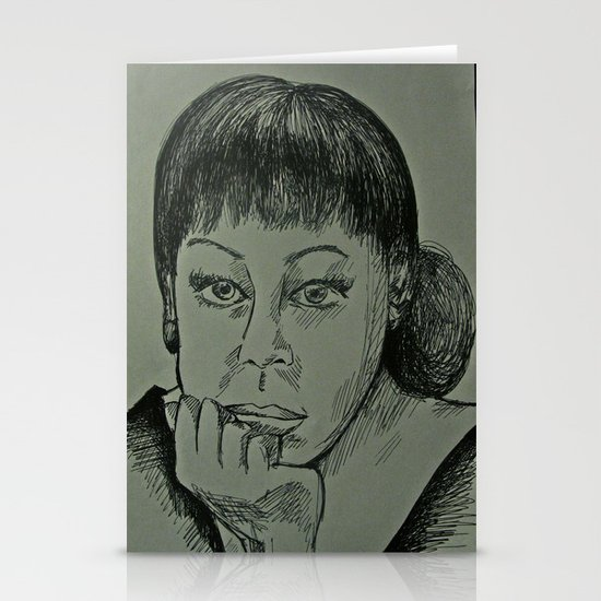 Adele Sketch Stationery Cards