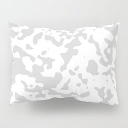 Spots - White and Light Gray Pillow Sham