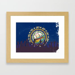 New Hampshire State Flag with Audience Framed Art Print