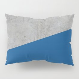 Concrete and Lapis Blue Color Pillow Sham
