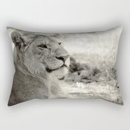 A male lion in Africa's wilderness Rectangular Pillow