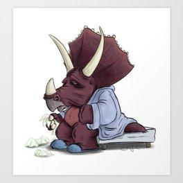 Sick Triceratops Art Print