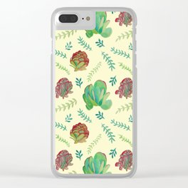 Paddle Plant Pattern Clear iPhone Case