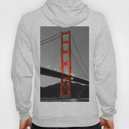 Golden Gate Bridge in Selective Black and White Hoody
