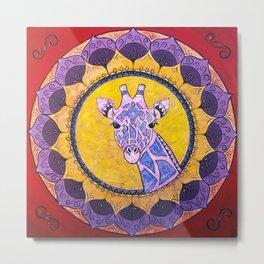 Compassion - Giraffe Mandala Metal Print