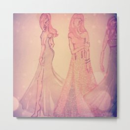 romantic brides Metal Print
