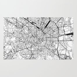 Milan White Map Rug