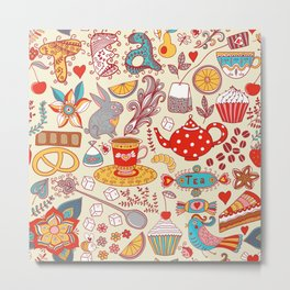 funny tea  party Metal Print