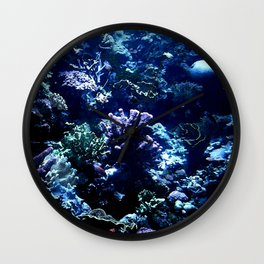 Painted Corals Wall Clock