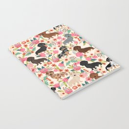 Dachshund floral dog breed pet patterns doxie dachsie gifts must haves Notebook
