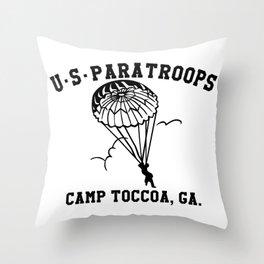 Camp Toccoa PT Shirt Throw Pillow